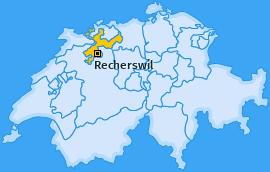 Karte von Recherswil