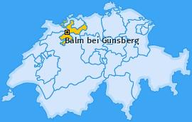 Karte von Balm bei Günsberg