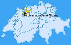 Karte von Feldbrunnen-Sankt Niklaus