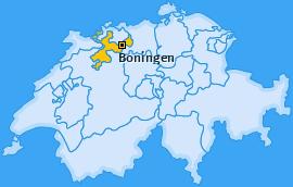 Karte von Boningen