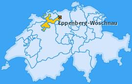 Karte von Eppenberg-Wöschnau
