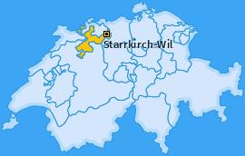 Karte von Starrkirch-Wil