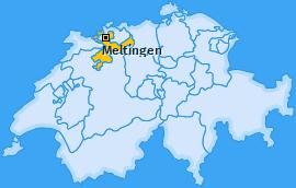 Karte von Meltingen