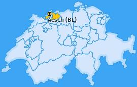 Karte von Aesch (BL)
