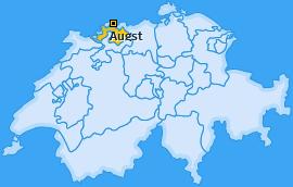Karte von Augst