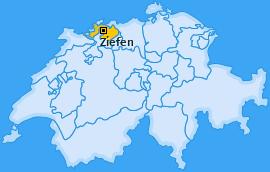 Karte von Ziefen