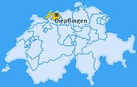 Karte von Diepflingen