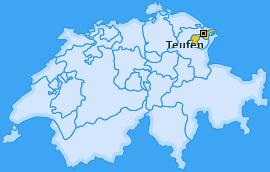 Karte von Teufen