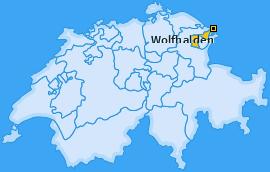 Karte von Wolfhalden