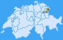 Karte Brülisau Rüte
