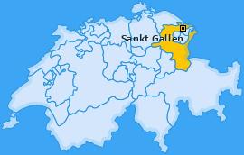 Karte Linsebühl-Dreilinden Sankt Gallen