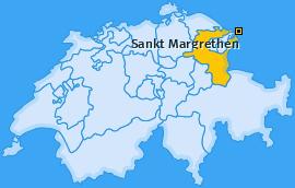 Karte von Sankt Margrethen