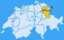 Karte von Widnau