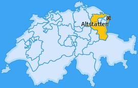 Karte Hinterforst Altstätten