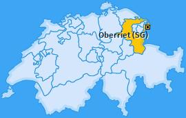 Karte von Oberriet (SG)