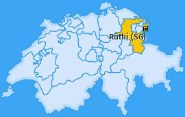 Karte von Rüthi (SG)