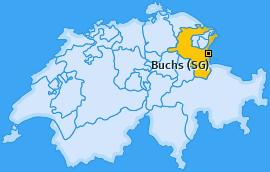Karte von Buchs (SG)