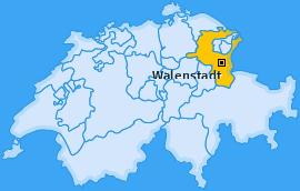 Karte von Walenstadt
