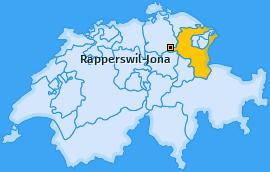 Karte von Rapperswil-Jona