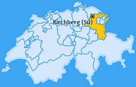 Karte von Kirchberg (SG)