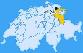Karte von Wil (SG)