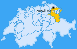 Karte von Zuzwil (SG)