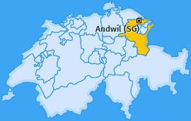 Karte von Andwil (SG)