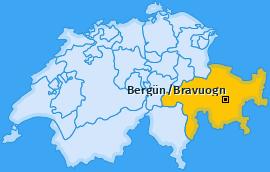 Karte von Bergün/Bravuogn