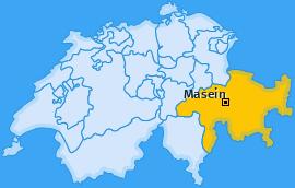 Karte von Masein