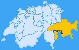Karte von Avers