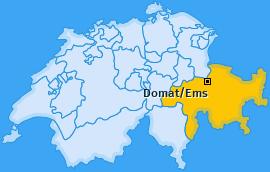 Karte von Domat/Ems