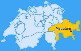 Karte von Madulain