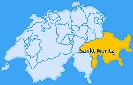 Karte von Sankt Moritz