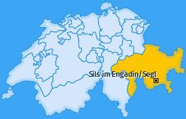 Karte von Sils im Engadin/Segl