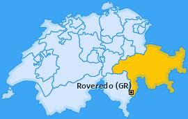 Karte von Roveredo (GR)