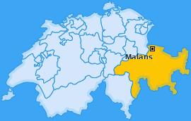 Karte von Malans
