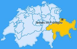 Karte von Seewis im Prättigau