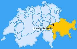 Karte von Breil/Brigels