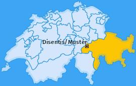Karte von Disentis/Mustér