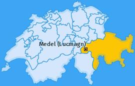 Karte von Medel (Lucmagn)