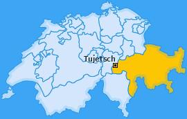 Karte Camischolas Tujetsch