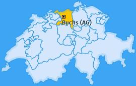 Karte von Buchs (AG)