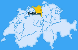 Karte von Bellikon