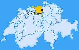 Karte von Bergdietikon