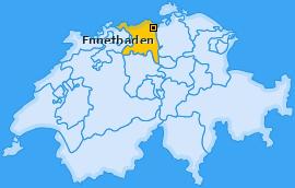 Karte von Ennetbaden