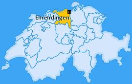Karte von Ehrendingen
