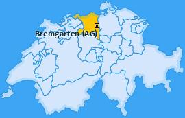 Karte von Bremgarten (AG)