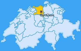Karte von Büttikon