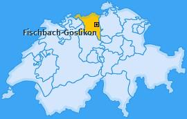 Karte von Fischbach-Göslikon