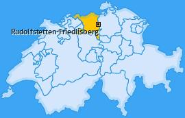 Karte von Rudolfstetten-Friedlisberg